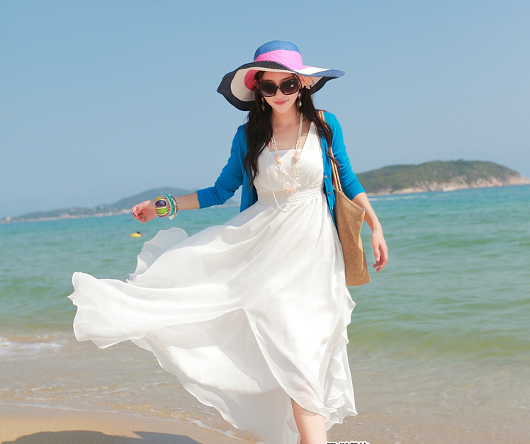 白色沙灘裙婚紗