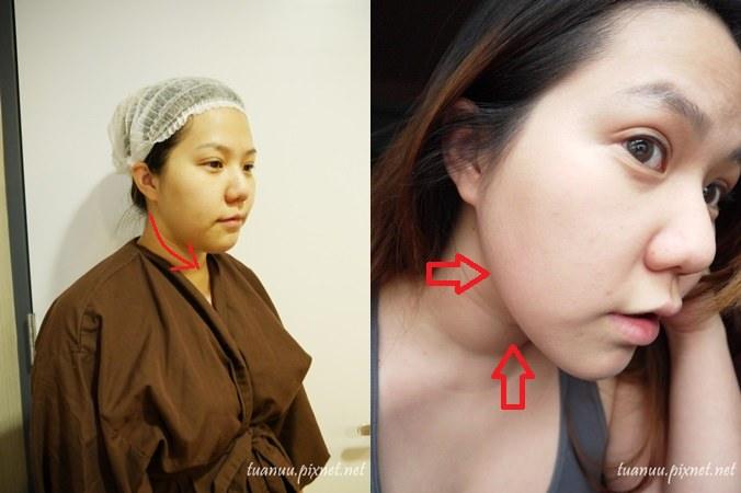 側臉線條對比