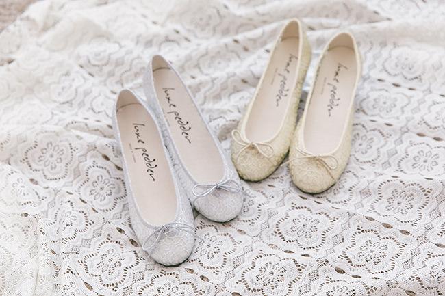 2-透明蕾絲芭蕾舞鞋